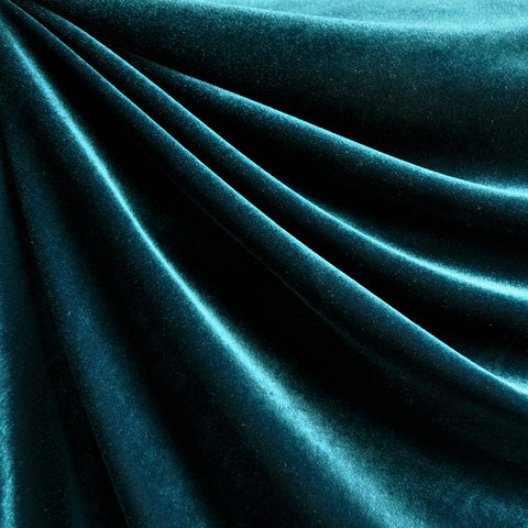 Stretch Velvet Solid Teal