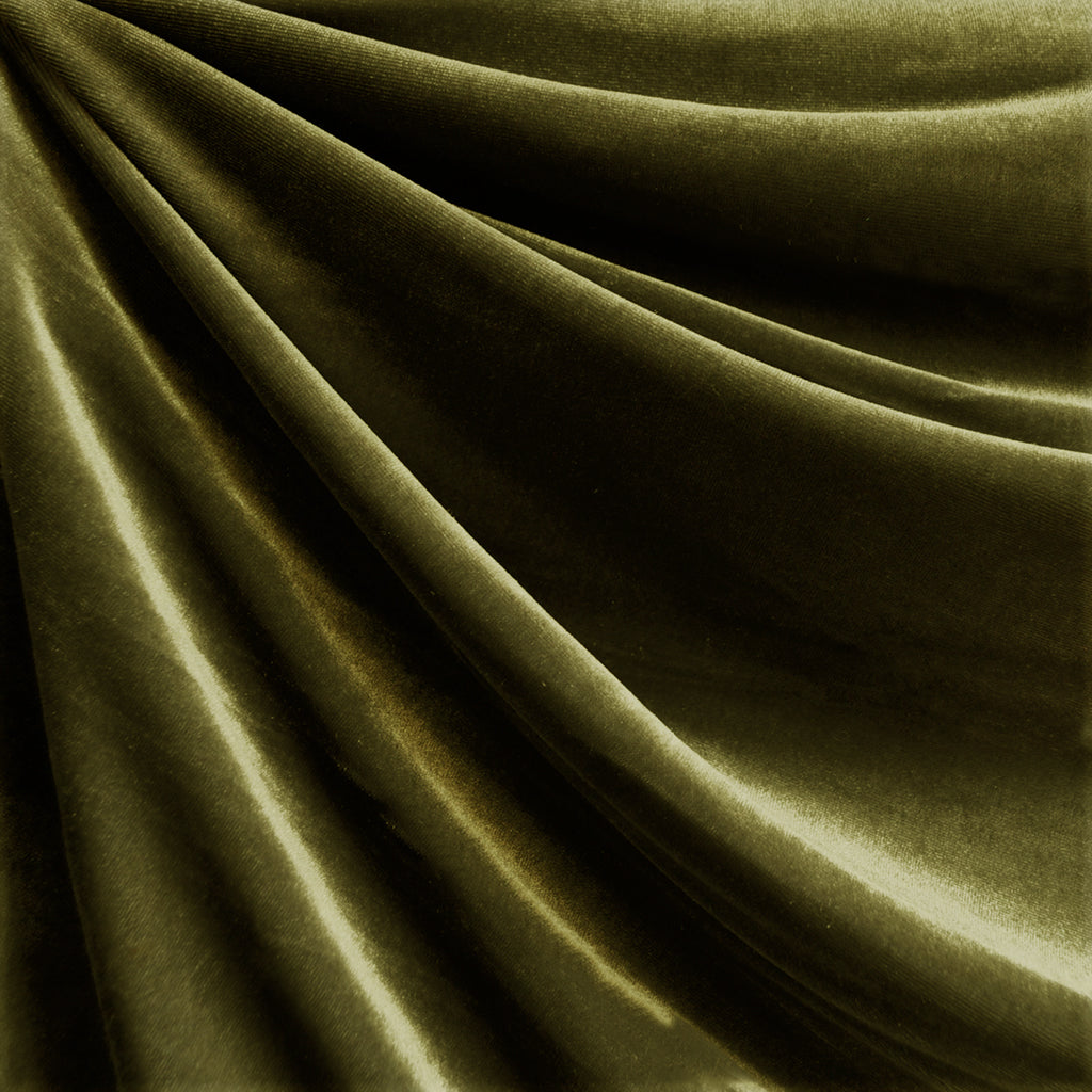 Stretch Velvet Solid Olive - Fabric - Style Maker Fabrics