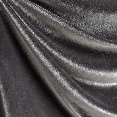Stretch Velvet Solid Grey