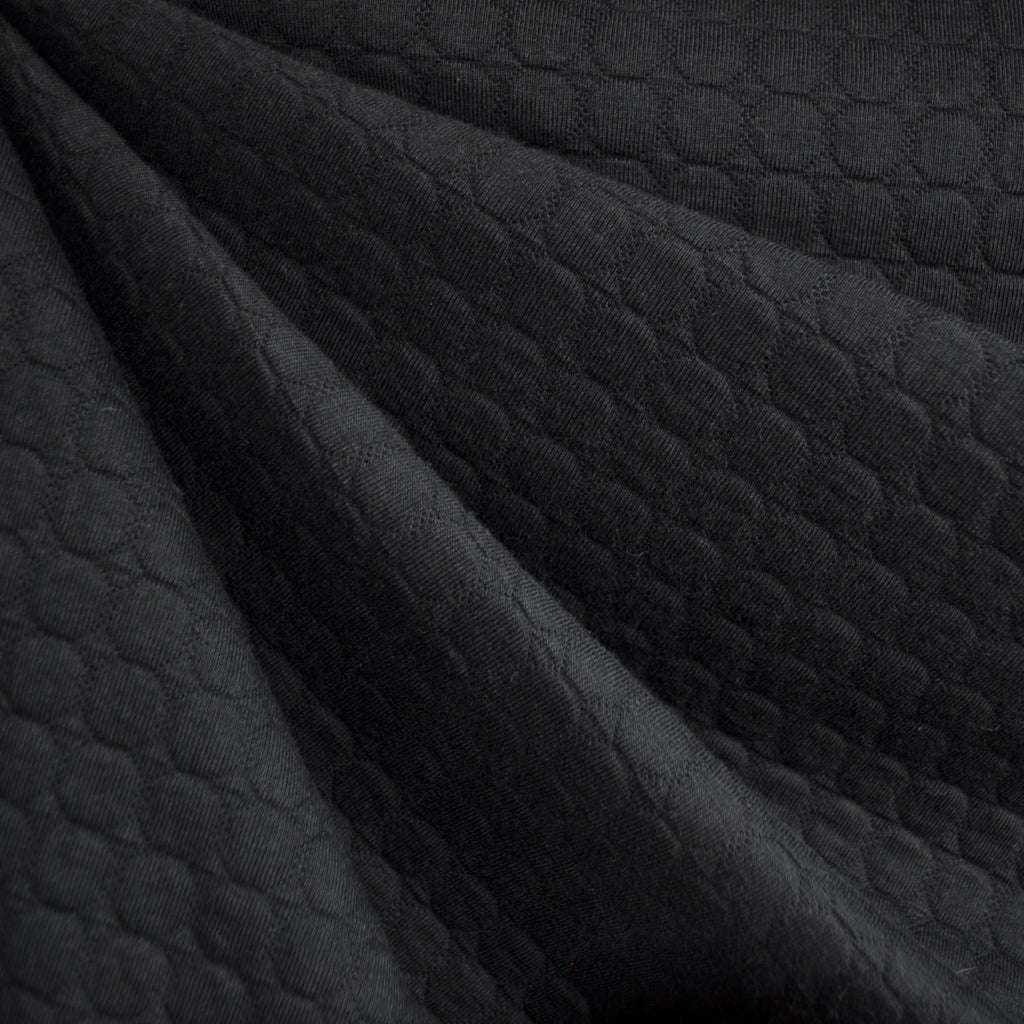 Pebble Quilted Double Knit Black - Sold Out - Style Maker Fabrics