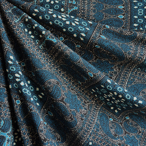 Texture Double Knit Patchwork Teal
