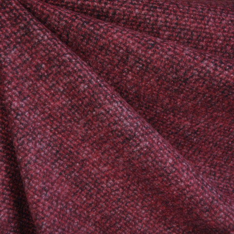 Brushed Textured Sweater Knit Merlot
