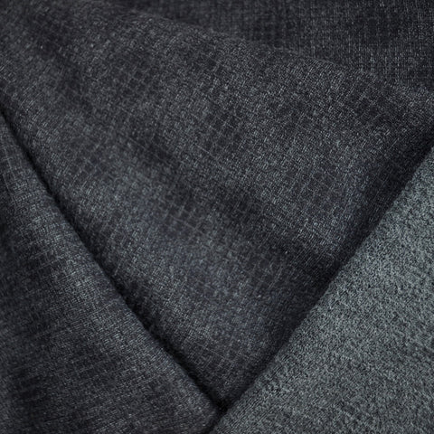 Textured Wool Blend Sweater Knit Charcoal