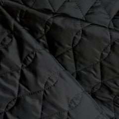 Plush Quilted Nylon Coating Black - Sold Out - Style Maker Fabrics