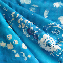 Nani Iro Double Gauze Floral Blue/Pearl SY - Sold Out - Style Maker Fabrics