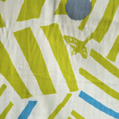 Japanese Echino Double Gauze Single Border Citron - Fabric - Style Maker Fabrics