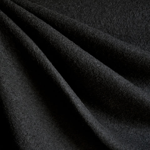 Boiled Wool Blend Coating Black
