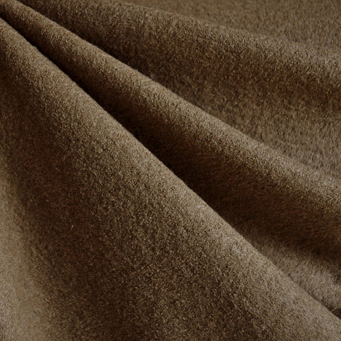 Boiled Wool Blend Coating Sepia