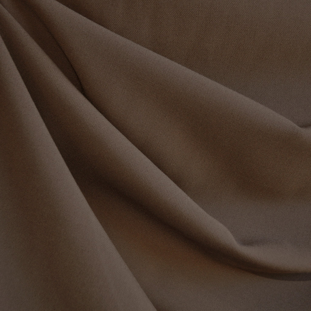 Stretch Double Twill Suiting Chocolate - Sold Out - Style Maker Fabrics