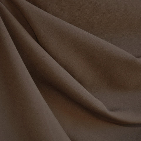 Stretch Double Twill Suiting Chocolate