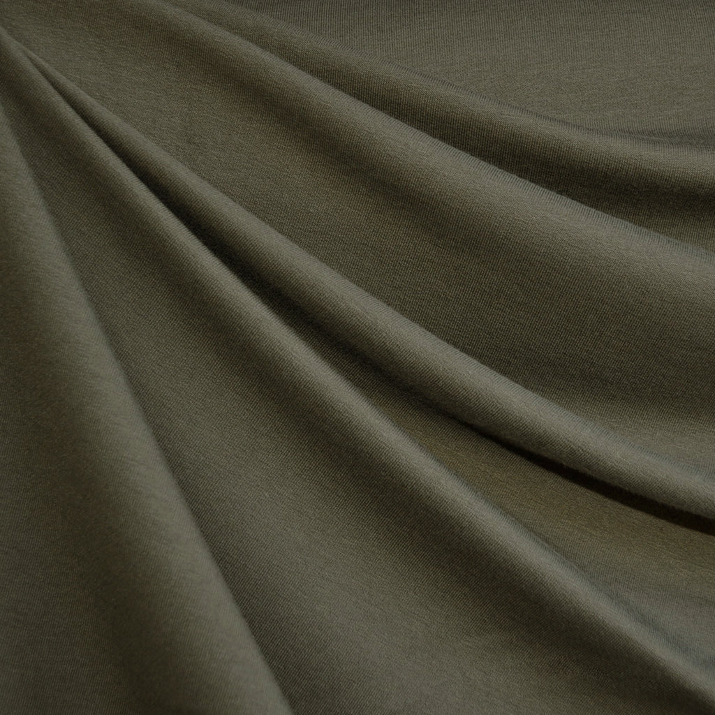 Bamboo Jersey French Terry Olive - Fabric - Style Maker Fabrics