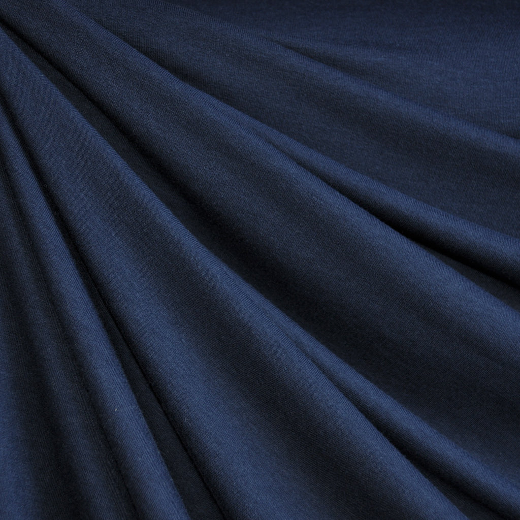 Bamboo Jersey French Terry Navy - Fabric - Style Maker Fabrics