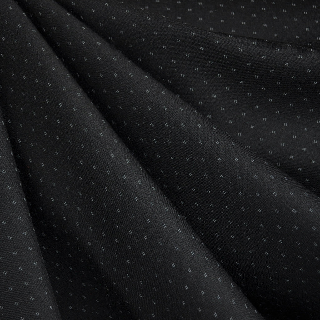 Pixel Dot Ponte Knit Black SY - Sold Out - Style Maker Fabrics