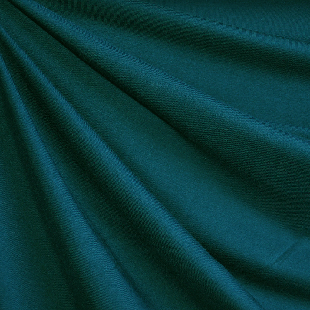 Bamboo Jersey Knit Solid Teal - Fabric - Style Maker Fabrics