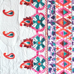 Embroidered Border Cotton Lawn White - Sold Out - Style Maker Fabrics