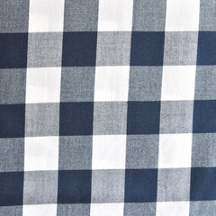 Carolina Gingham Shirting Navy/White SY - Selvage Yard - Style Maker Fabrics