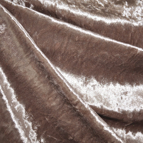 Stretch Panne Velvet Solid Taupe