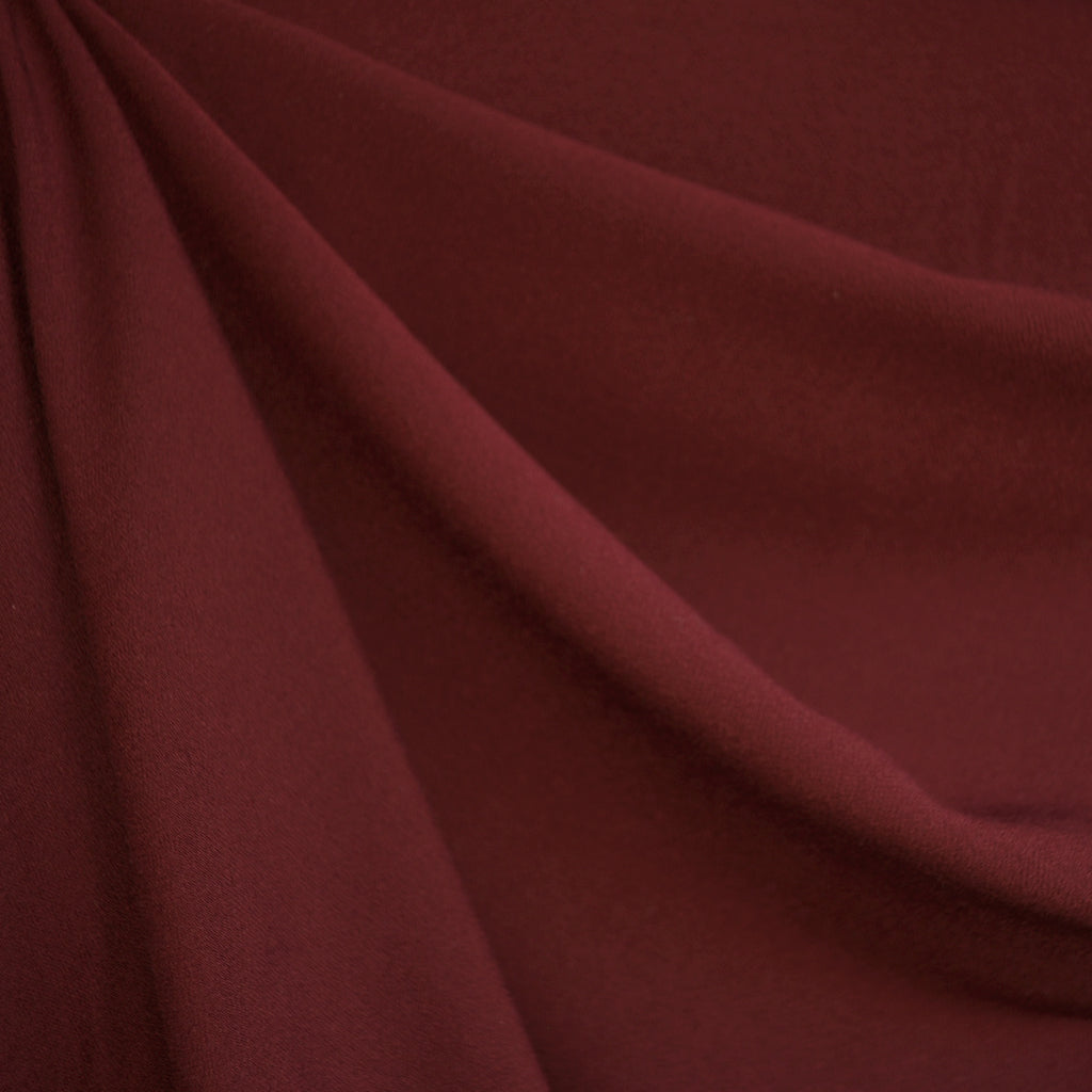Rayon Crepe Solid Burgundy - Sold Out - Style Maker Fabrics