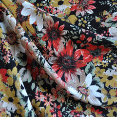 Textured Floral Rayon Crepe Autumn - Sold Out - Style Maker Fabrics
