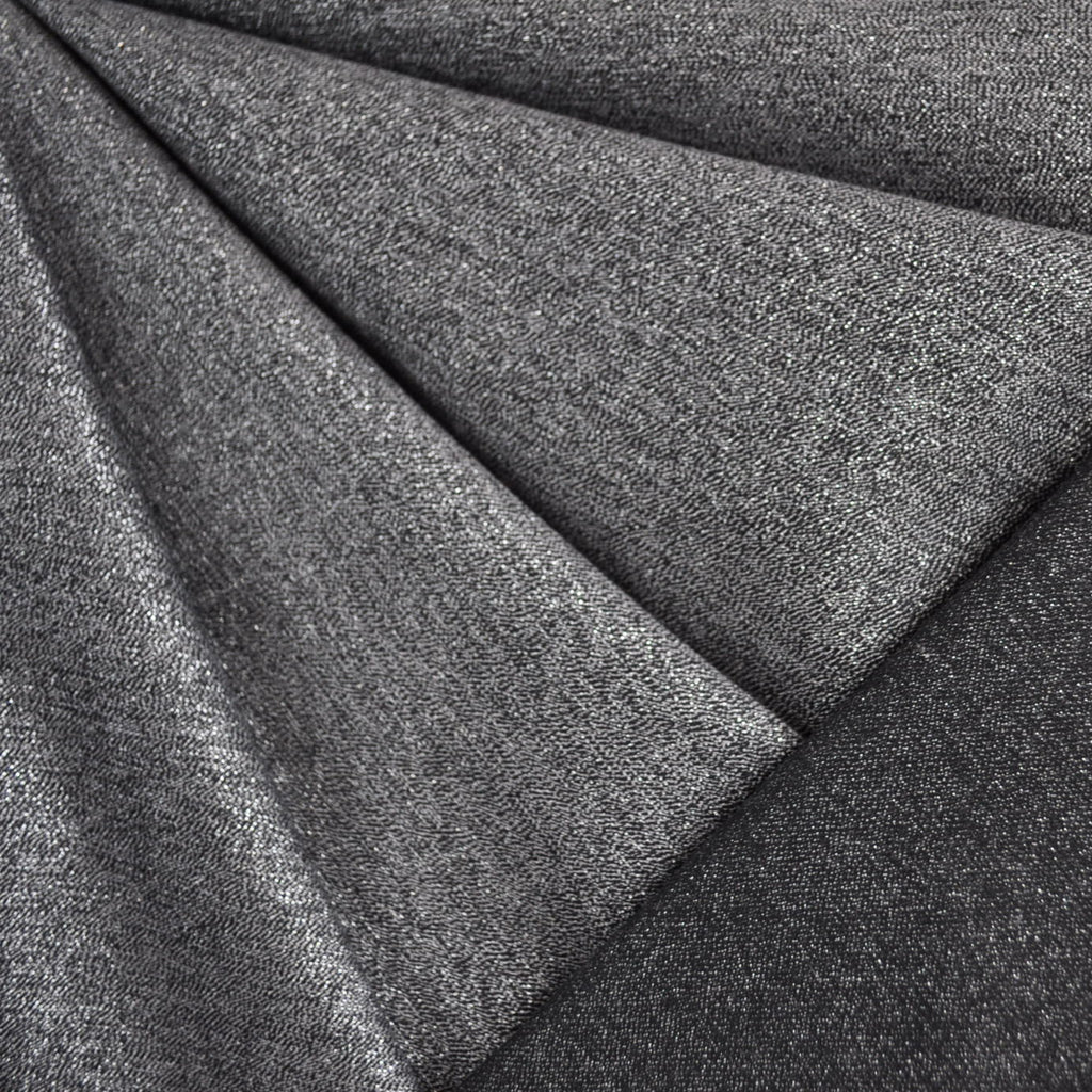 Reversible Glitter Stretch Suiting Silver/Black - Fabric - Style Maker Fabrics