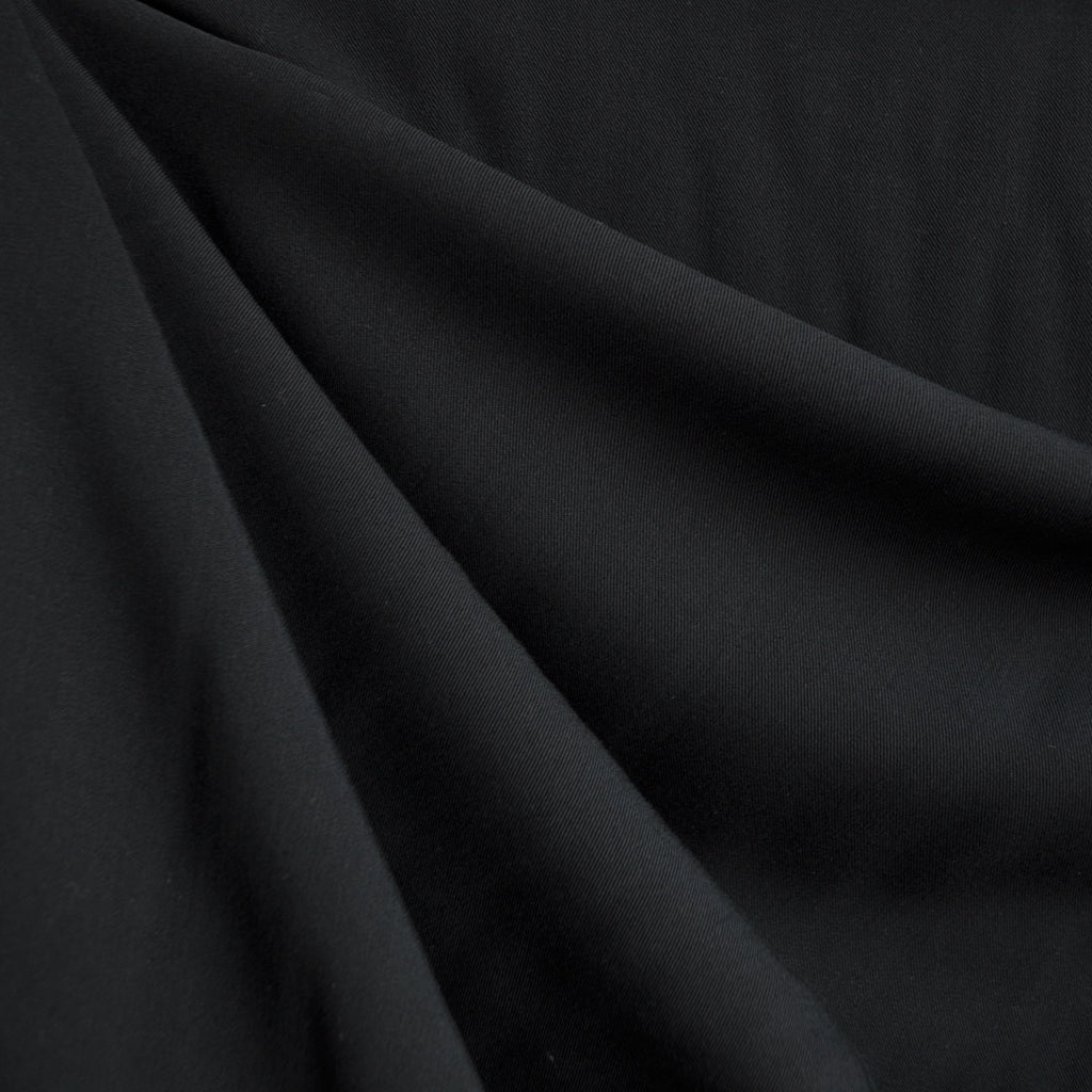Soft Rayon Crepe Solid Black - Sold Out - Style Maker Fabrics