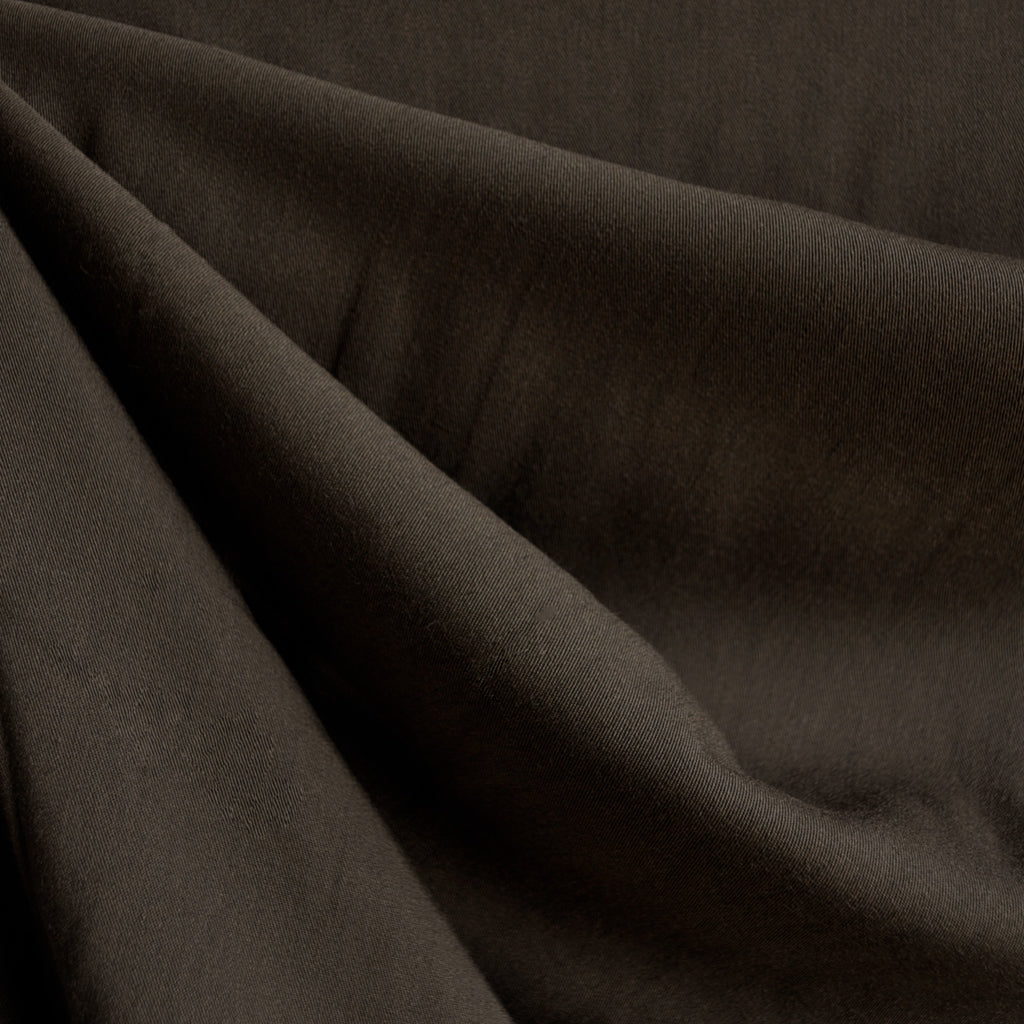 Tencel Gabardine Solid Chocolate - Fabric - Style Maker Fabrics