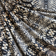 Jersey Knit Snakeskin Print Black/Cream SY - Sold Out - Style Maker Fabrics