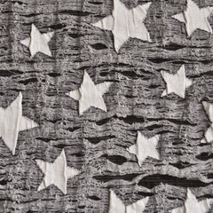 Layered Star Novelty Knit Vanilla/Black SY - Sold Out - Style Maker Fabrics