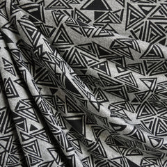 Triangle Geometric Jersey Knit Print Grey/Black - Sold Out - Style Maker Fabrics