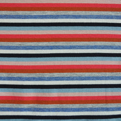 Jersey Knit Stripe Denim/Multi - Fabric - Style Maker Fabrics