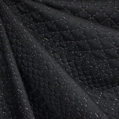 Stitch Texture Double Knit Black/Silver - Sold Out - Style Maker Fabrics