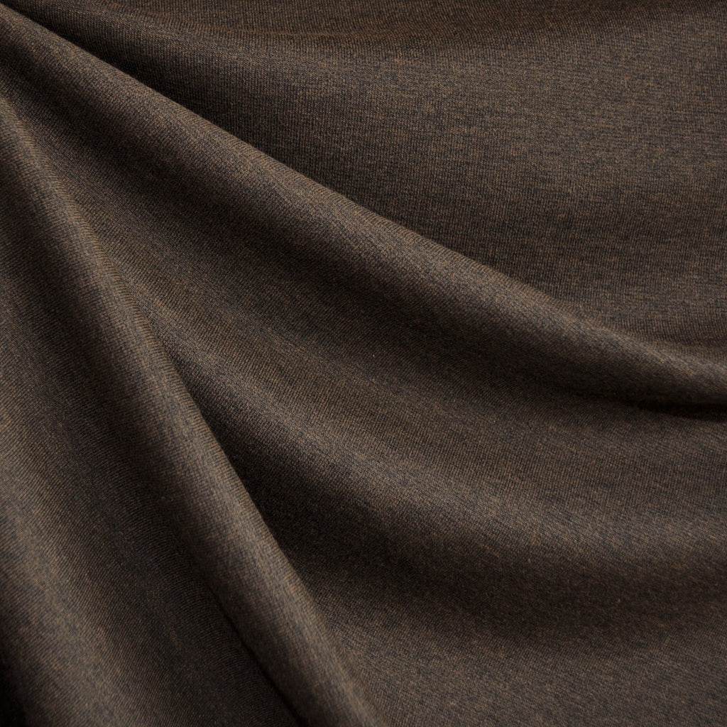 Ponte Knit Solid Heather Chocolate - Sold Out - Style Maker Fabrics