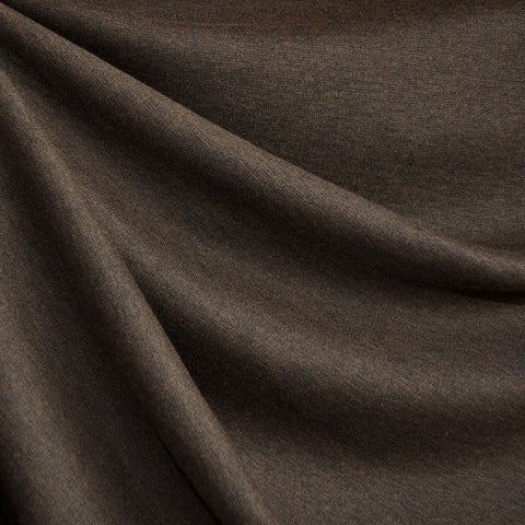 Ponte Knit Solid Heather Chocolate