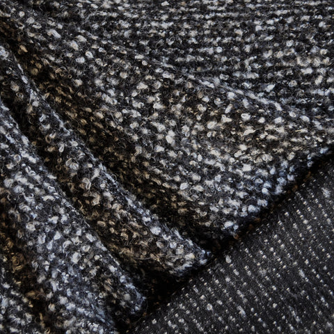 Boucle Sweater Knit Charcoal/Cream SY