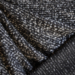 Boucle Sweater Knit Charcoal/Cream SY - Selvage Yard - Style Maker Fabrics