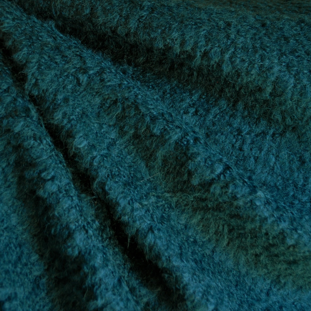 Boucle Sweater Knit Solid Teal SY - Sold Out - Style Maker Fabrics