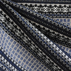 Nordic Stripe Double Knit Navy/Multi - Fabric - Style Maker Fabrics