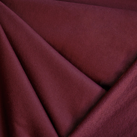 Sweatshirt Fleece Solid Cranberry