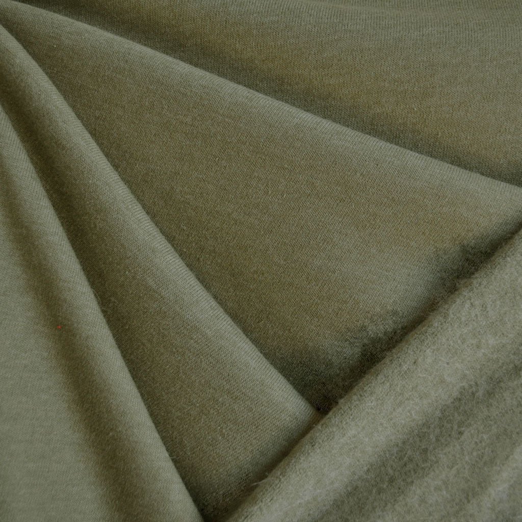 Sweatshirt Fleece Solid Olive SY - Sold Out - Style Maker Fabrics