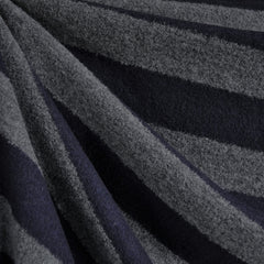 Rugby Stripe Wool Sweater Knit Charcoal/Navy - Fabric - Style Maker Fabrics