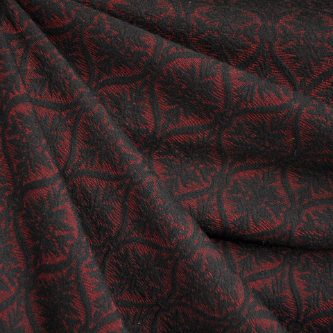 Medallion Jacquard Double Knit Red/Black