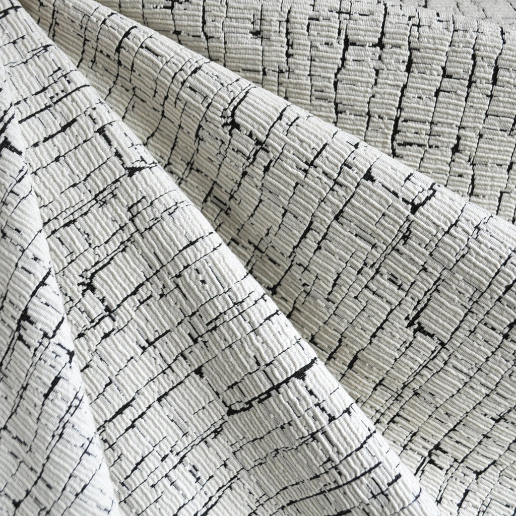 Crackle Texture Double Knit Vanilla/Black - Fabric - Style Maker Fabrics