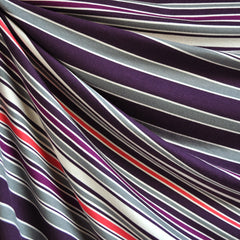 Jersey Knit Stripe Plum/Grey/Vanilla - Sold Out - Style Maker Fabrics