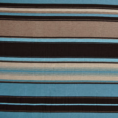 Jersey Knit Stripe Black/Teal - Sold Out - Style Maker Fabrics
