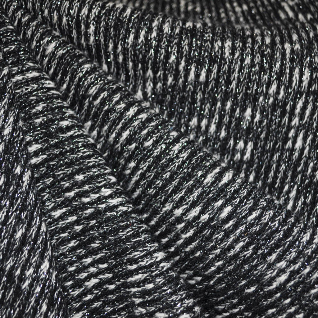 Metallic Sweater Knit Black/Silver - Fabric - Style Maker Fabrics