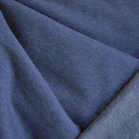 Sweatshirt Fleece Solid Denim Blue