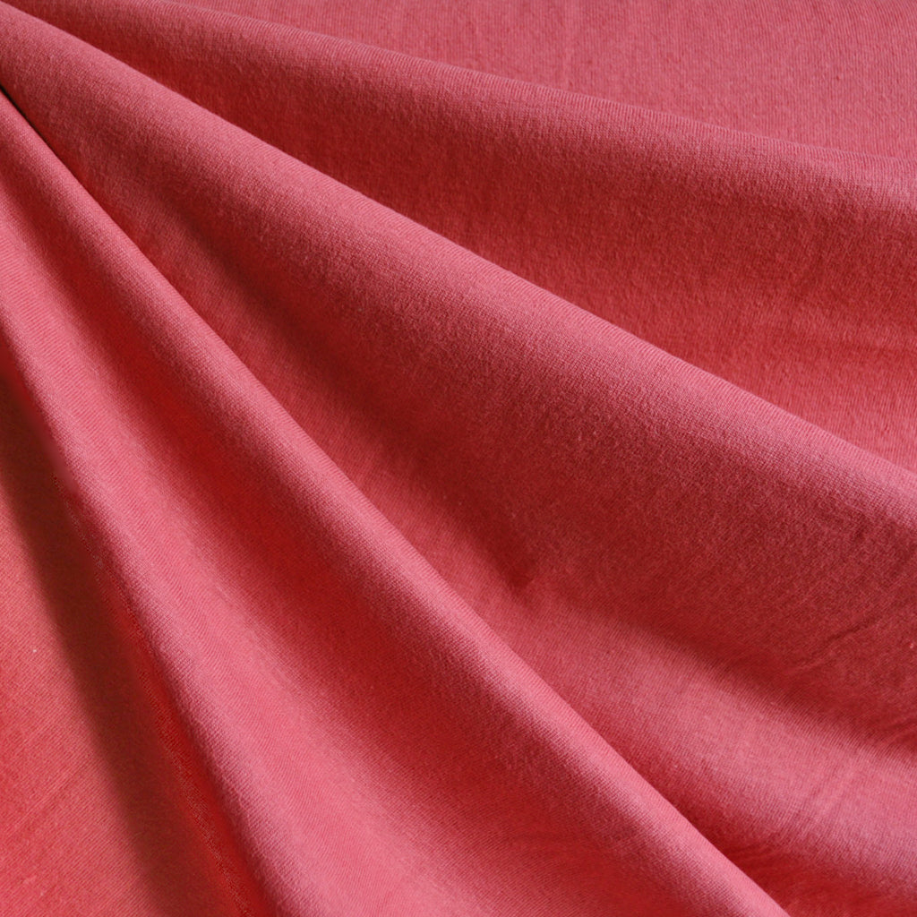Cotton Jersey Knit Solid Coral SY - Sold Out - Style Maker Fabrics