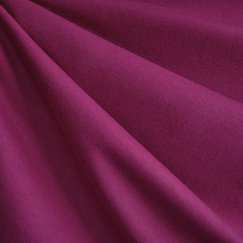 Cotton Jersey Knit Solid Magenta