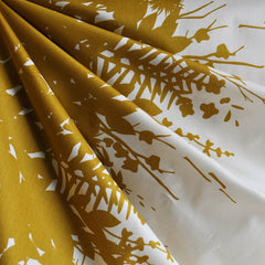 Adorn Silhouette Double Border Lawn Gold - Fabric - Style Maker Fabrics
