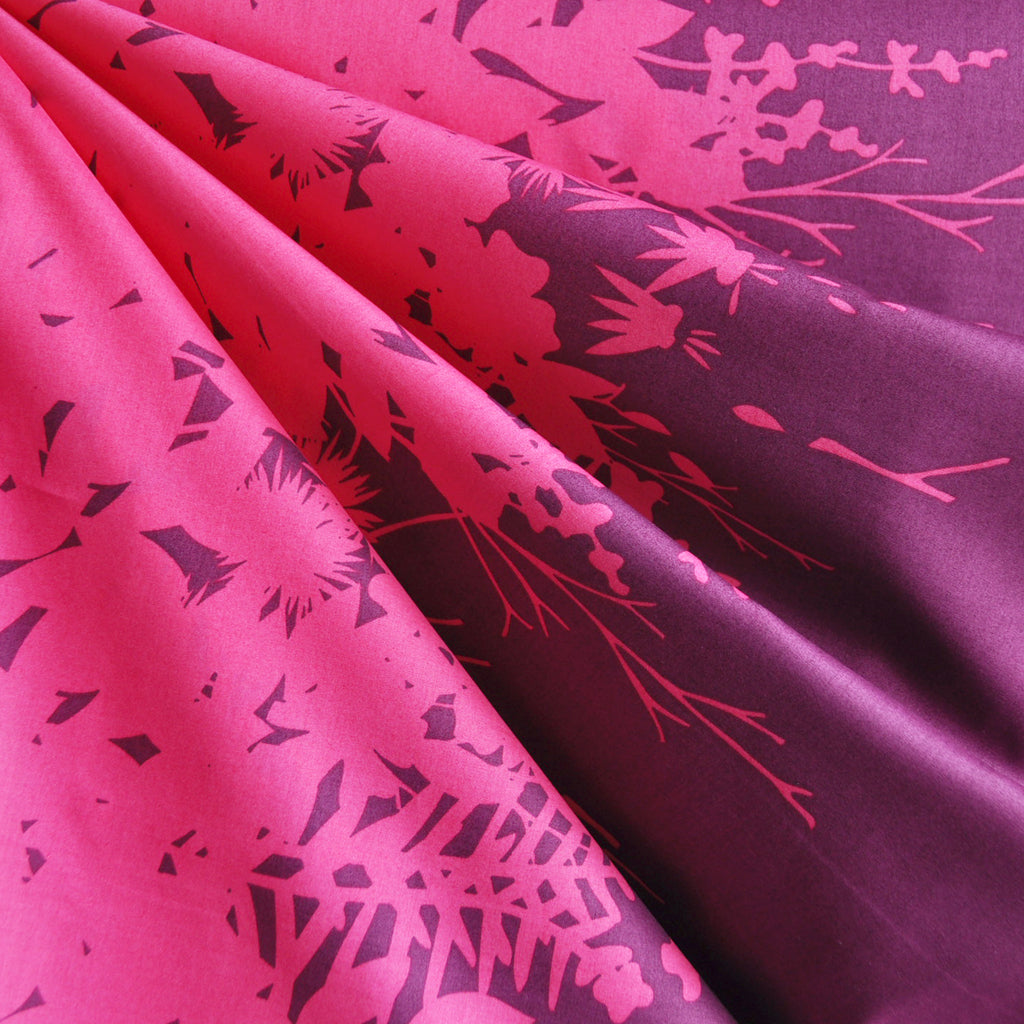 Adorn Silhouette Double Border Lawn Magenta SY - Sold Out - Style Maker Fabrics